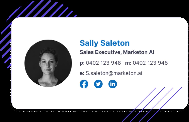 Sales Professional Signature Builder