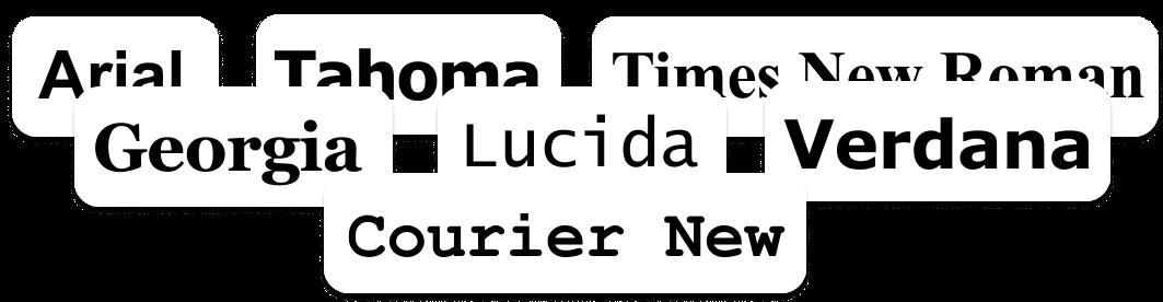 List of Web Safe Fonts