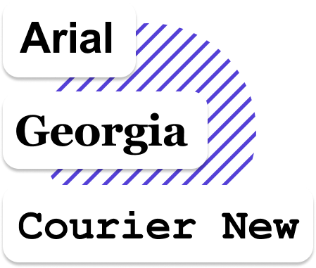 Web Safe Fonts Arial Georgia Courier New