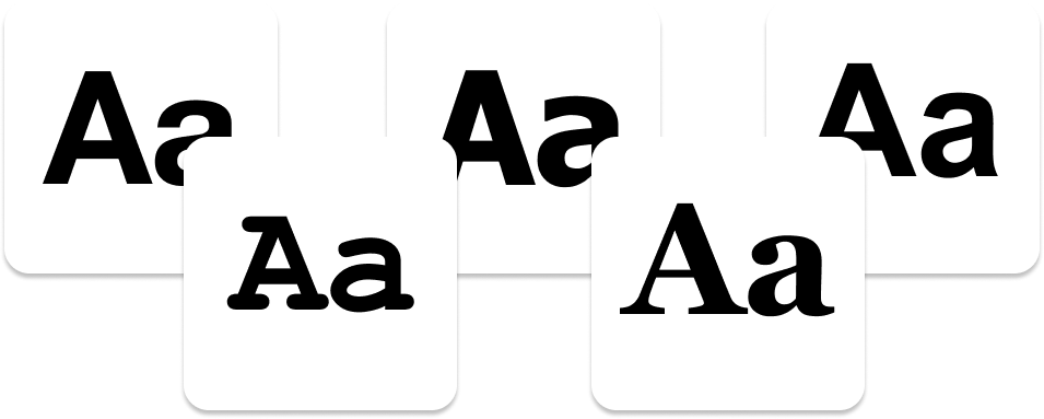 Examples of Web Safe Typefaces