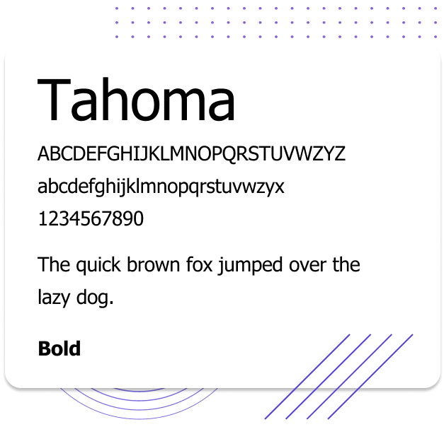 Tahoma Web Safe Font