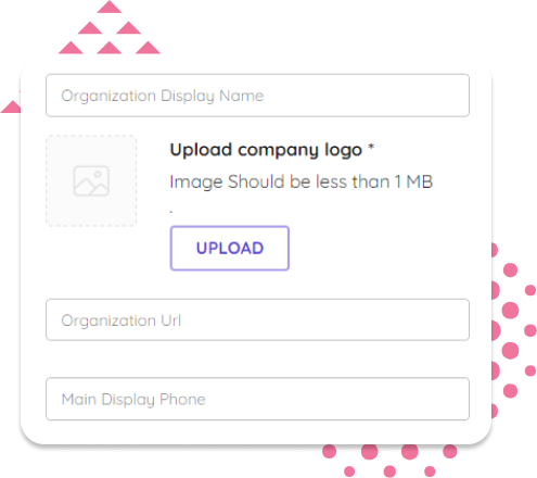 Set up organisation page signature builder URL and Phone inputs