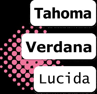 Web Safe Fonts Tahoma Verdana Lucida