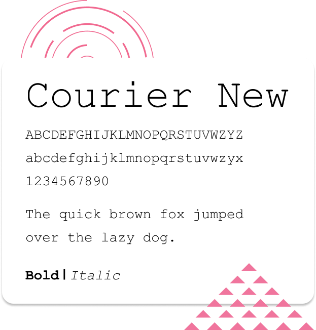 Web Safe Font Courier New