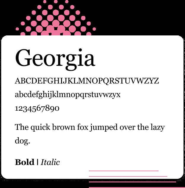 Georgia Web Safe Font